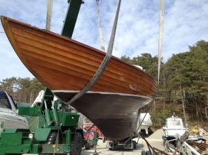 Sjösättningen gick mycket bra 2013 i Dragsmark.